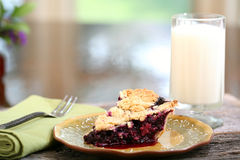 Blueberry Pie Slice Royalty Free Stock Images