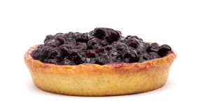Blueberry Pie on White Royalty Free Stock Photography
