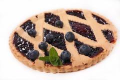 Blueberry pie. On white background Royalty Free Stock Photos