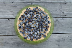 Blueberry pie. On the wooden background Stock Photos