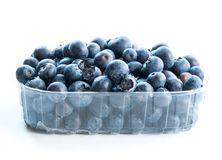 Blueberry in a plastic pack Stock Photo