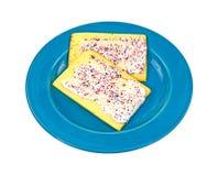 Blueberry Pop Tarts up Close royalty free stock photo