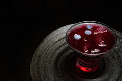 Blueberry purple cocktail stock images