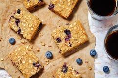 Blueberry Quinoa Oats Breakfast Bars Stock Photography