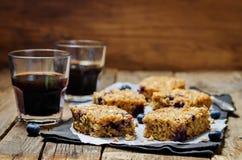 Blueberry Quinoa Oats Breakfast Bars Stock Images