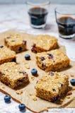Blueberry Quinoa Oats Breakfast Bars Stock Photo