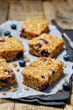 Blueberry Quinoa Oats Breakfast Bars Royalty Free Stock Images