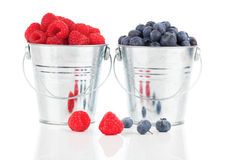 Blueberry and raspberries berries Royalty Free Stock Image