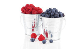 Blueberry and raspberries berries Royalty Free Stock Photos