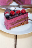 Blueberry and raspberry cake mousse dessert. With spice Royalty Free Stock Image