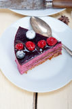 Blueberry and raspberry cake mousse dessert. With spice Royalty Free Stock Photography