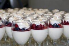 Blueberry, Raspberry Parfait. Tray of Blueberry, Raspberry Parfait Dessert Stock Photography