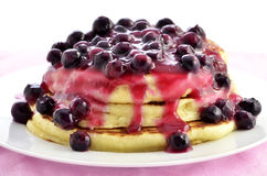 Blueberry ricotta pancakes Royalty Free Stock Photos
