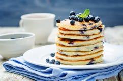 Blueberry Ricotta Pancakes Stock Images
