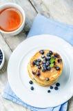 Blueberry Ricotta Pancakes Stock Photos