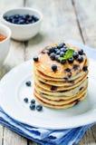 Blueberry Ricotta Pancakes Royalty Free Stock Photos