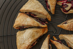 Blueberry scones. Scones made of fresh blueberries Stock Photo