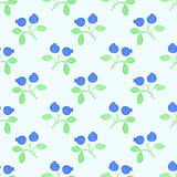 Blueberry. Seamless pattern with berries. Hand-drawn background. Vector illustration. Stock Photo