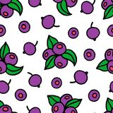 Blueberry Seamless Pattern. Nice bright berries background Stock Image