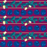 Blueberry seamless pattern. On white background. Perfect for wallpaper, wrapping paper, textile and package design Royalty Free Stock Photography