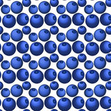 Blueberry seamless vector pattern in flat style Royalty Free Stock Photo