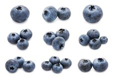 Blueberry set Royalty Free Stock Images