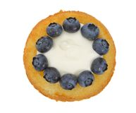 Blueberry shortcake Royalty Free Stock Images