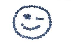 Blueberry smiley face Stock Photos