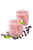 Blueberry smoothie Stock Photo