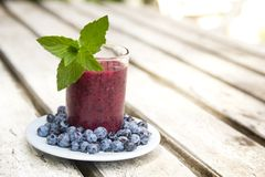 Blueberry smoothie Royalty Free Stock Photography