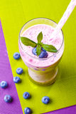 Blueberry smoothie Royalty Free Stock Images