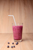 Blueberry smoothie with fresh berries Stock Photography
