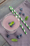 Blueberry smoothie Royalty Free Stock Photos