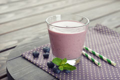 Blueberry smoothie Stock Photos