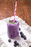 Blueberry smoothie royalty free stock photo