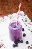 Blueberry smoothie stock photography