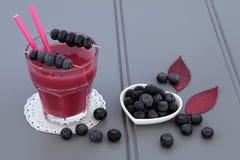Blueberry Smoothie Fruit Juice Drink Royalty Free Stock Image