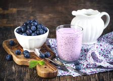 Blueberry smoothie Stock Image