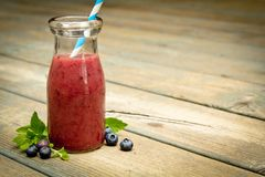 Blueberry smoothies Royalty Free Stock Image