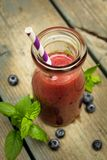 Blueberry smoothies Royalty Free Stock Images