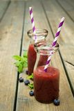 Blueberry smoothies Royalty Free Stock Photo