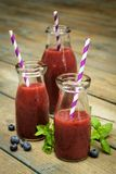Blueberry smoothies Stock Photos