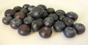Blueberry. Some blueberries on a plate Royalty Free Stock Image