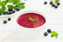 Blueberry soup Stock Images