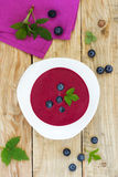 Blueberry soup Royalty Free Stock Photos