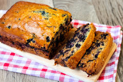 Blueberry spelt flour cake Royalty Free Stock Photography