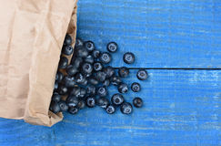 Blueberry Spill Stock Images