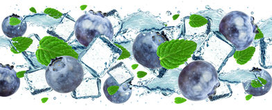 Blueberry splash Royalty Free Stock Photography