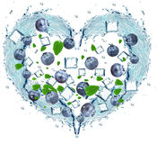 Blueberry splash Stock Images