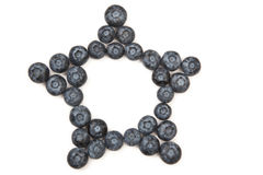 Blueberry Star Frame Stock Image